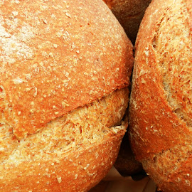 Two Loaves of Fresh Bread by Kathy Rose Willis - Food & Drink Cooking & Baking ( bakery, food, bread, baking, baked, crust,  )
