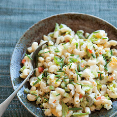 Old-Fashioned Macaroni Salad with Sweet Pickles