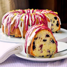 Lemon Blueberry Cream Cheese Pound Cake