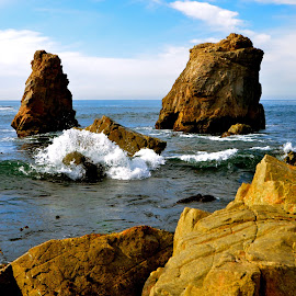 Garrapata State Beach by Kathleen Koehlmoos - Landscapes Beaches ( garrapata, rocky point beach, rocky beach, big sur, waves, garrapata state beach,  )
