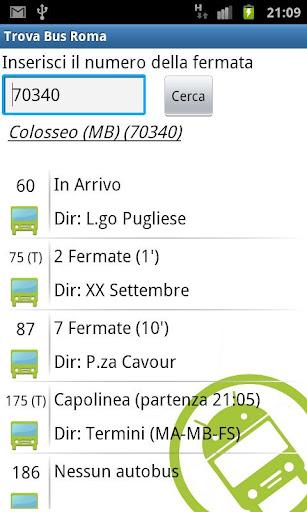 Trova Bus Roma