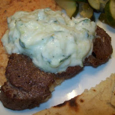 Sirloin Steak With Cucumber Yogurt Sauce