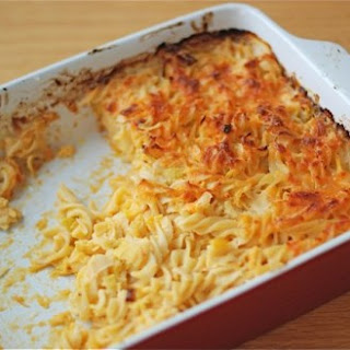 Baked Pasta with Cheddar & Leeks
