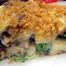 Ham, Broccoli and Cheese Souffle