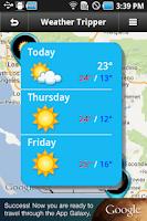 Screenshot of Weather Tripper