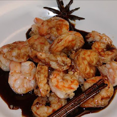 Rum Glazed Shrimps