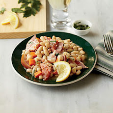 Warm White Bean Salad with Smoked Trout