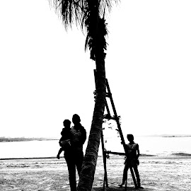 Jay, Jas &Jane by Max Samson - Instagram & Mobile Android ( jane, black& white, veera, children, beach, mobile )