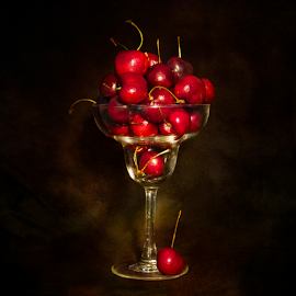 by Marie Otero - Food & Drink Fruits & Vegetables ( cherry, fruit, red, still life, artistic, summer, cherries )