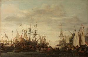RIJKS: Lieve Pietersz. Verschuier: The Keelhauling of the Ship's Surgeon of Admiral Jan van Nes 1686