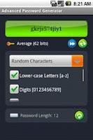Screenshot of Advanced Password Generator