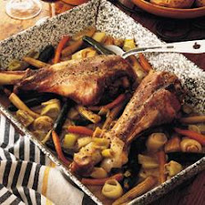 Turkey Drumsticks Braised With Baby Vegetables