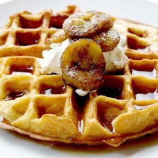 Belgian Buttermilk Waffles with Glazed Bananas