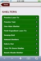 Screenshot of Wilderness Survival Pro