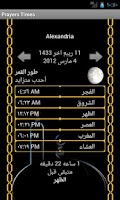 Screenshot of Muslim's Prayers times