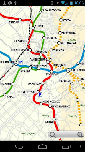 Athens Transport Map - Free