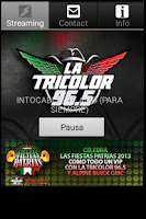 Screenshot of Regional Music Tricolor 96.5