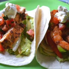 Chipotle Chicken and Shrimp Fajitas