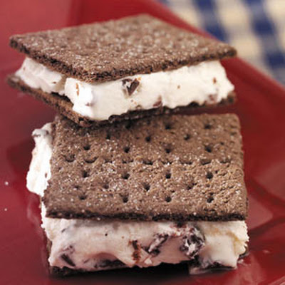 Cherry-Chip Ice Cream Sandwiches