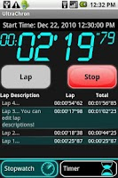 Screenshot of UltraChron Stopwatch & Timer