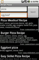 Screenshot of Recipes