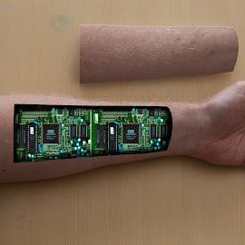 repairs by Koen Peeters - Digital Art People ( hand, open, arm, electronics )