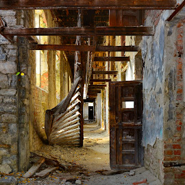 Doftana Prison by Alah Ja Ja Bin - Buildings & Architecture Decaying & Abandoned ( interior, old, stair, dry-rot, colors, beautiful, romania, architecture, jail, historic, attraction, city, history, ancient, european, prison, color, buildings, ruins, historical, rust, public, abandoned )