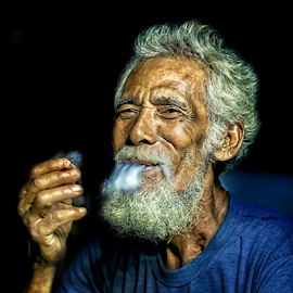 mr smoke  by Daril Sugito - People Portraits of Men
