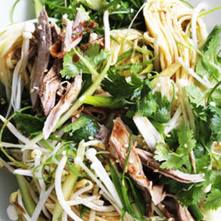 Egg Noodle Salad With Barbecue Duck And Hoisin Dressing