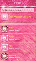 Screenshot of GO SMS PRO LUXURY PINK THEME