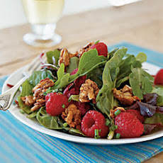 Mesclun with Berries and Sweet Spiced Almonds