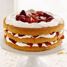 Strawberry and Cream Cake with Cardamom Syrup