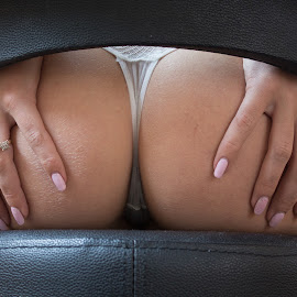 Bottom by Phil Nix - People Body Parts ( chair, lingerie, nail varnish, fingers, bottom, nails )
