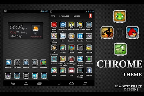 Download CHROME APEX NOVA GO ADW THEME APK to PC