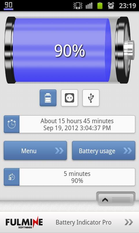 Battery Indicator Pro Screenshot 4