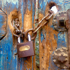 lock on the blue door by Ayoob Izadi - Novices Only Objects & Still Life ( lock, door )