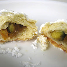 Candied Orange and Pistachio Crescents