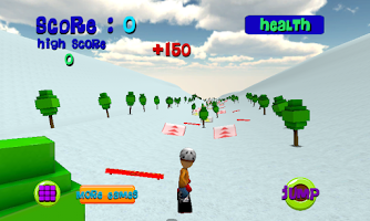 Screenshot of Ski Sim: Cartoon