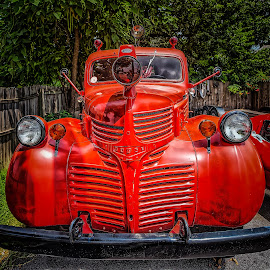 Dodge Firetruck by Ron Meyers - Transportation Automobiles