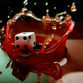 Dice splash Four by Anthony Doyle - Artistic Objects Other Objects