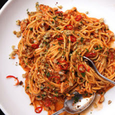 Pasta with Crab, Tomato, and Chilies