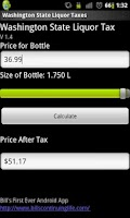 Screenshot of Washington State Liquor Tax