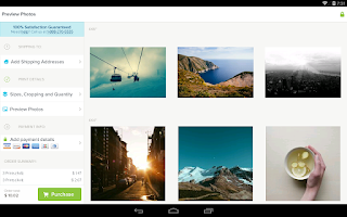 Screenshot of Kicksend: Share & Print Photos