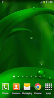 Screenshot of Green Live Wallpaper