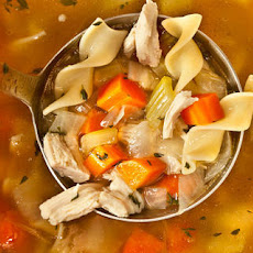 Easy Chicken Noodle Soup from a Leftover Roasted Chicken Recipe