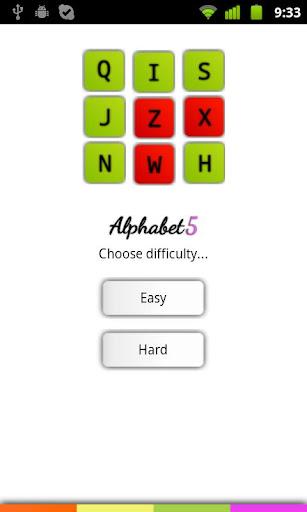 Alphabet 5 Free Game