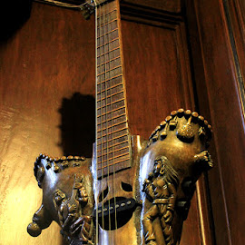 Carved Bamboo Guitar by Bench Bryan - Artistic Objects Antiques ( #photografixbybenchbryan )