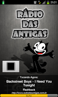 Screenshot of Rádio das Antigas