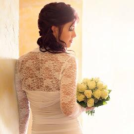 andrea by Slávka Miklošová - Wedding Bride ( bouquet, wedding, white dress, bride, light )