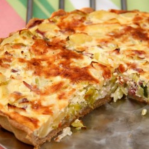 Lovely Leftover Corned Beef Quiche